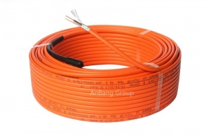 China Underfloor heating cable twins conductor 17w/m orange on sale