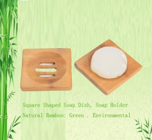 China square bamboo soap dish soap dispenser on sale