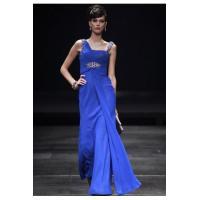 China Gorgeous Couture Royal Blue Beaded Chiffon Bridesmaid Dress - 7805684 on sale