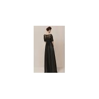 China Gorgeous Couture Black Chiffon Half Sleeves Evening Dress - 2301552 on sale
