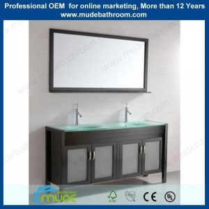 China 60 inch large capacity free standing bath sink vanity on sale