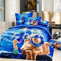 Aries Oil Painting Style Zodiac Signs Bedding Set