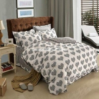 China Captivated Gray Cotton Bedding 2014 Duvet Cover Set on sale
