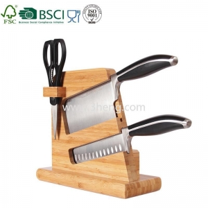 China new design bamboo knife block for kitchenware bamboo product on sale