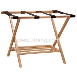 China Household Essentials Bamboo Luggage Rack with Tray on sale