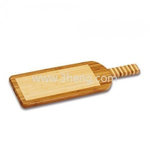 China Eco-friendly Bamboo Cutting Board With Knife Serves As Board Handle on sale