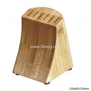 China Bamboo Knife Storage Block 6 inserts on sale