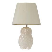 China TRF110007 11 inch ceramics owl base modern fabric table lamp cloth lighting jiufa lighting on sale