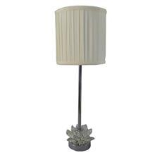 China TRF080002 lotus table lamp with fabric lampshade crystal lamp base modern lighting fixture on sale