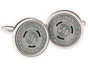 China Chicago, Illinois Subway CTA Tokens in Fine Sterling Silver Settings Cufflinks on sale