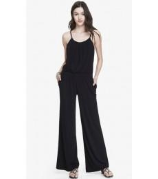 China 2015 summer wide leg modified halter neck sleeveless jumpsuit for women hsd3057 on sale