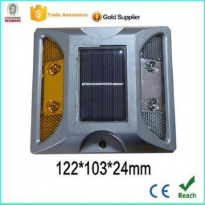 China easy installed solar led road stud low power consumption solar led road stud aluminum road spike on sale