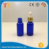 China Cosmetic bottles Blue cosmetic bottles with dropper on sale