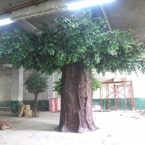China Artificial big covered Ficus tree on sale