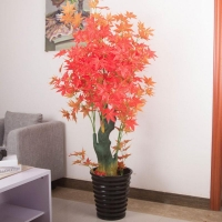 China Artificial red maple tree bonsai on sale