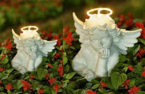 China Angel solar light garden statue on sale