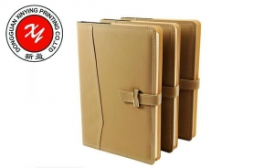 China skiver thermo PU metal rim magnet notebook on sale