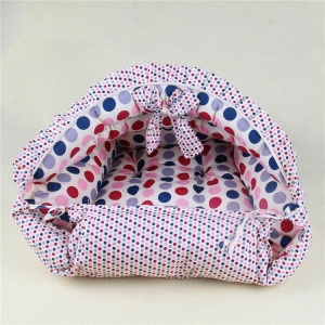 China Dog Nesting Bed Cotton Puppy Cave Bed Dot Luxury Dog Beds on sale