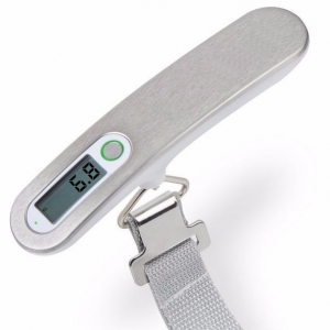 China Mini Digital Pocket Luggage Scale 50KG Stainless Steel Travel Weight Hanging Scale on sale