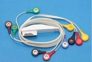 China Mortara 10lead Holter Cable with Snap for K1116SJ on sale