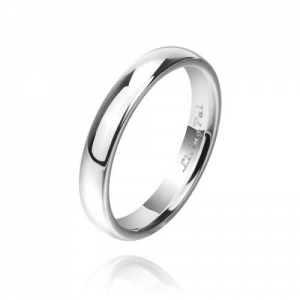 China Classic Wedding Ring Platinum Plated Sterling Silver Wedding Band on sale