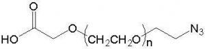 China COOH-PEG-N3 ; AA-PEG-N3 ; Acetic Acid-PEG-Azide on sale