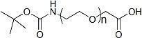 China Boc-NH-PEG-COOH ; Boc-NH-PEG-AA ; Boc-NH-PEG-Acetic Acid on sale
