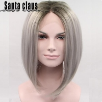 Short wavy Wig Natural straight Synthetic Hair Wigs Wonderful Party cosplay