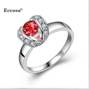 China ECCOSA Wholesales rings for women jewellery mix sterling silver gemstone rings on sale