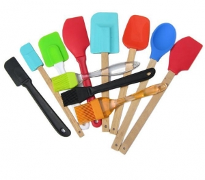 China Silicone Spatulas with Bamboo Handles on sale