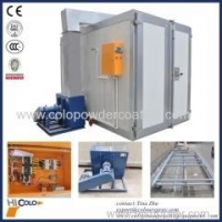 China LPG /gas indirect fired heater powder coating oven with front and back doors on sale