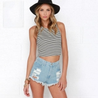 China High Waisted Ripped Denim Shorts for Women Ripped Jean Shorts on sale