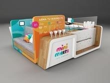 China mall retail candy cart kiosk cute candy display stand on sale