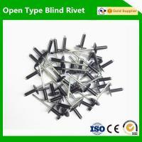 EAS041Aluminum steel rivet large flange black color rivet blind pop rivet