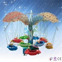 2015 high quality music box animal rotary flying fish for sale