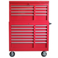 China New arrival 42 inch 8+11 drawer Red steel tool chest LC4219IR on sale