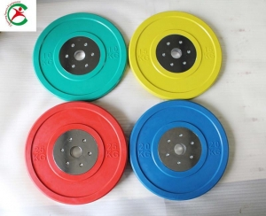 China Power System Colorful rubber bumper competition plate on sale