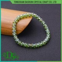 China single row/ single line crystal ab rhinestone trimming with colorful base plastic on sale