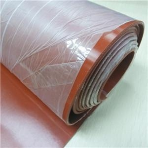 China Width 2800mm Fabric Insertion Silicone Sheet For Hot Press on sale