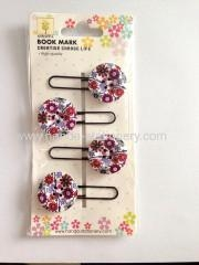 China paper clips & bookmark creative button shape wooden bookmark paper clips push pins on sale