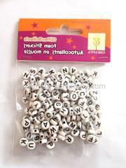 China 2015 wholesale White 4*7 mm round plastic DIY Alphabet Beads on sale