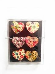 China Funny wooden heart shape toys,Hot Sale DIY Wooden Magnet Child Toy on sale
