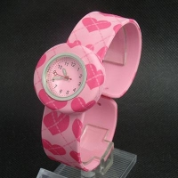 China Silicone slap watch kid's water printing wrist watch on sale