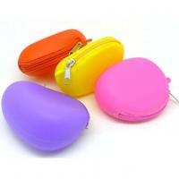 Silicone purse Cute silicone zipper coin purse