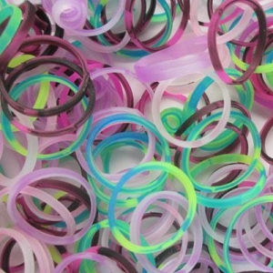 China DIY loom band Tie dye color silicone loom bands on sale