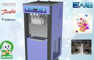 China Soft Serve Frozen Yogurt Equipment For Buffet Restaurant, 3 Flavor Yogurt Ice Cream Making Machine on sale