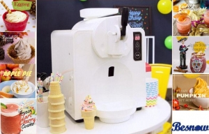 China 300 W Power Home Frozen Yogurt Machine For Ice Cream / Beer Slush , White Plastic Shell on sale