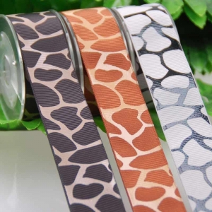 China Thick plate plastisol printed grosgrain ribbons,customized printed ribbons. on sale