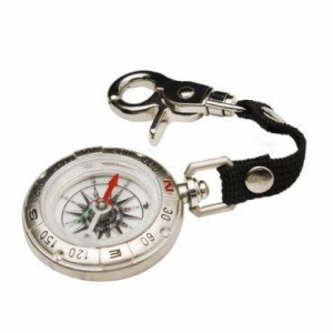China Camping Keychain Survival Compass with Alloy Silver on sale