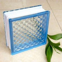 China 190*190*80mm Self-colored Glass Block Used In Bathroom With Certification on sale